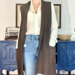 Lord & Taylor 100% Cashmere Sleeveless Sweater